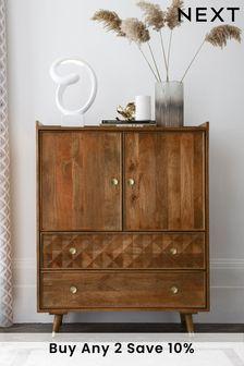 Lloyd Mango Wood Cabinet with Drawers
