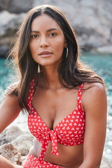 Ditsy Print Shape Enhancing Bikini Top