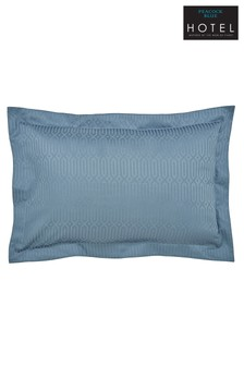 Peacock Blue Hotel Rivage Pillowcase
