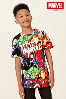 All Over Printed Marvel® T-Shirt (3-16yrs)