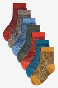 Stripe Socks Seven Pack (Younger)
