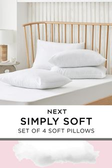 Set of 4 Simply Soft Pillows