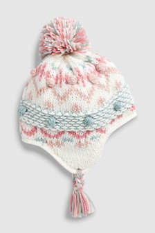 Fairisle Pattern Trapper Hat (Younger)