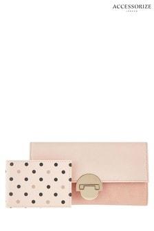 Accessorize Nude Eva Fliplock Wallet