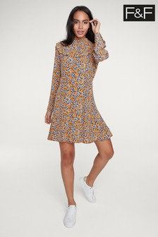 F&F Yellow Floral Mini Dress