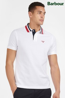 Barbour® White Hawkeswater Tipped Polo Shirt