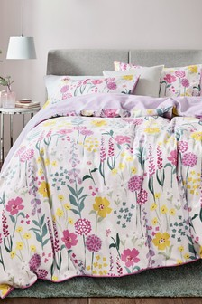 Bright Floral Duvet Cover and Pillowcase Set