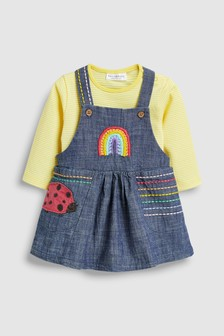 Ladybird Pinafore And Bodysuit Set (0mths-2yrs)