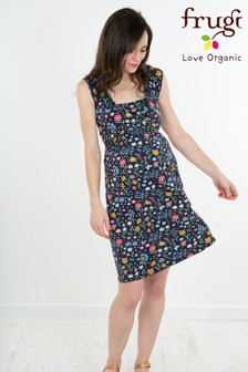 Frugi Organic Floral Jersey Smocked Dress Maternity Or Nursing