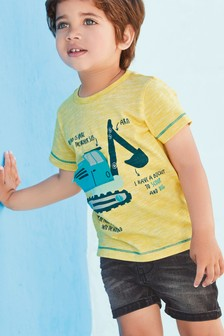 Interactive Digger T-Shirt (3mths-7yrs)