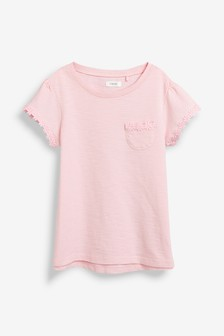 Short Sleeve Daisy Trim T-Shirt (3-16yrs)