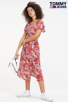 Tommy Jeans Floral Festival Side Slit Dress