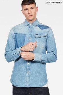 G-Star Light Blue 3301 Slim Long Sleeve Shirt