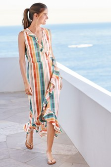 Frill Detail Wrap Dress