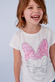 Sequin Daisy Duck Short Sleeve T-Shirt (3-16yrs)