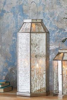 Mercury Glass Large Lantern
