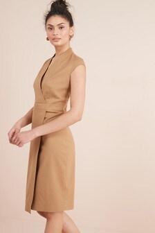 Tailored Fit Suit: Wrap Detail Dress