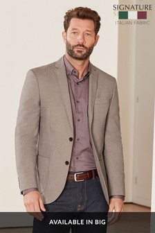 Signature Italian Cotton Slim Fit Subalpino Blazer