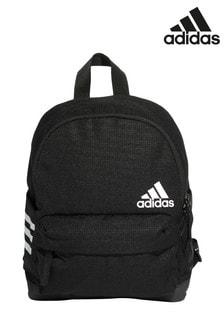 adidas Black 3 Stripe Small Backpack