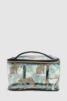 Leopard Print Make Up Bag