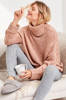 Knitted Roll Neck Jumper