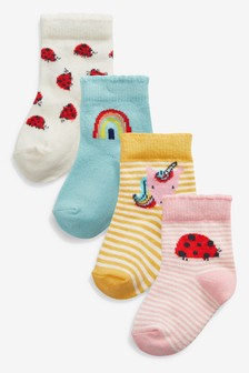 Bright Socks Four Pack (Younger)
