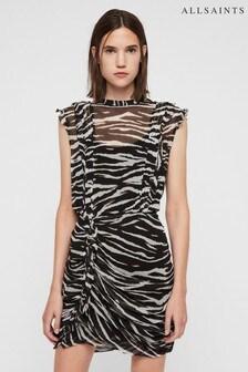 All Saints Black Tiger Flint Dress