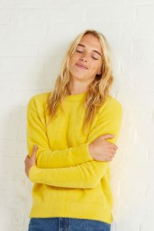 Oliver Bonas Yellow Gloss Fluffy Jumper
