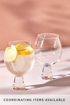 Set of 2 Chunky Gin Glasses