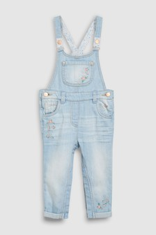 Floral Embroidered Dungarees (3mths-7yrs)