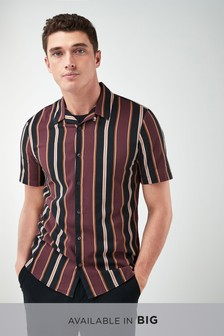 Short Sleeve Retro Stripe Shirt