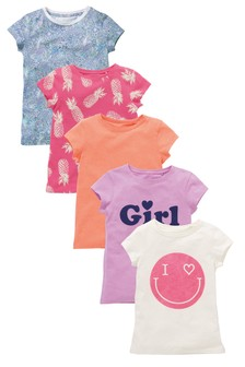 Fluro Face T-Shirts Five Pack (3-16yrs)