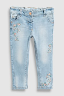 Floral Embroidered Jeans (3mths-7yrs)