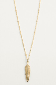Sterling Silver Feather Detail Necklace
