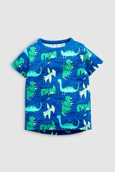 Short Sleeve Dino Print T-Shirt (3mths-7yrs)