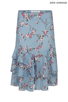 Sofie Schnoor Blue Floral Print Skirt