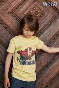 Wheat Yellow Iron Man T-Shirt