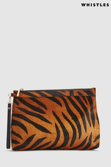 Whistles Tiger Print Chester Zip Pouch