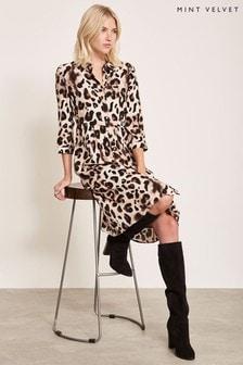 Mint Velvet Animal Audrey Print Shirt Dress