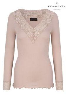 Rosemunde Organic Cotton T-Shirt In Vintage Powder