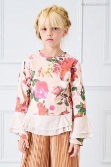 Angel & Rocket Pink Floral Print Sweater