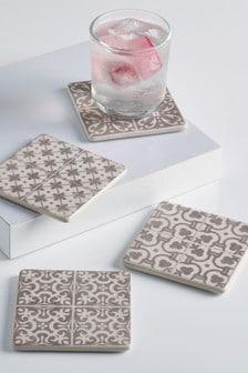 Set of 4 Tile Ceramic Coasters