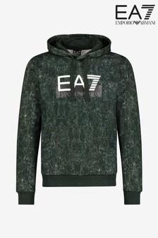 EA7 Green Pattern Hoody