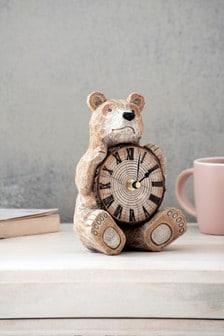 Novelty Bear Mantle Clock