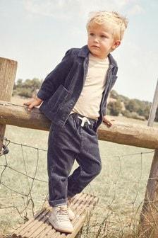 Jumbo Cord Shacket, Trousers And T-Shirt Set (3mths-7yrs)