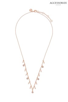 Z for Accessorize Rose Gold Charmy Swarovski® Necklace
