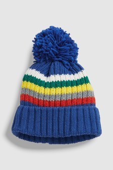 Stripe Bobble Beanie (Younger)