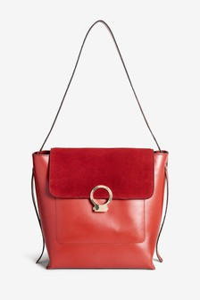 867402984298 Leather Structured Hobo Bag