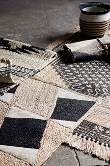 French Connection Natural Jute Aztec Runner