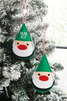 Family Elf Bauble Set